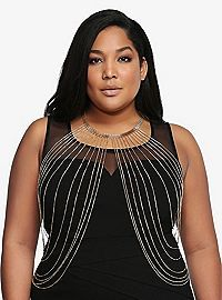 TORRID.COM - Collar Bodychain. Great with beautiful lingerie!