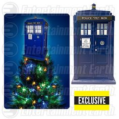 Doctor Who TARDIS Light-Up Holiday Tree Topper - Exclusive - Kurt S. Adler - Doctor Who - Holiday Ornaments at Entertainment Earth Christmas Tree Toppers, Christmas Themes, Christmas Decorations, Holiday Decor, Holiday Tree, Holiday Ornaments, Doctor Who Decor, Police, Geek Decor