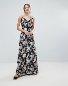 Uttam Boutique Floral Print Maxi Dress With Lace Trim at asos.com 1164573e3