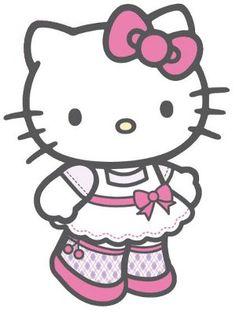 Papel decoupage Hello Kitty fundo bege e outros