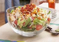 WW BLT Layered Salad-4 Points+, Makes 4 servings.