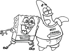 Spongebob Squarepants And Patrick Coloring Pages From The Thousand