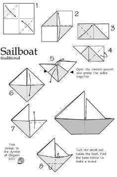 origami sailboat instructions printable