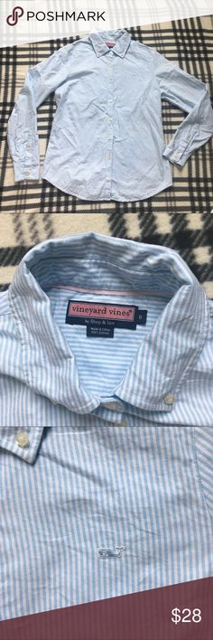 Vineyards vines Button Down shirt size 6 Excellent condition, no tears or stains, from a pet and smoke free home Vineyard Vines Tops Button Down Shirts