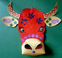 Masque Vache 3 Brigitte Merlin