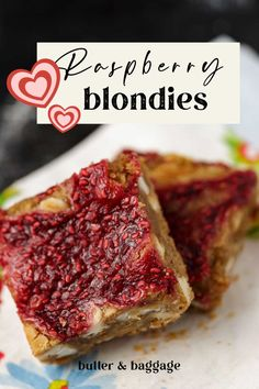 Raspberry White Chocolate Bars are a blondie with white chocolate mixed in and topped with raspberries. Almond meal and browned butter make these magical. White Chocolate Blondies, White Chocolate Raspberry, Chocolate Bars, Bar Recipes, Almond Recipes, Recipies, Dessert Recipes, Valentine Recipes, Valentines Day Food