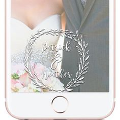 Snapchat Geofilter Simple White Wedding Wreath Snapchat Geofilter, Custom made design for Wedding Snapchat Geofilter and Wedding Decor | W H Y C H O O S E B E A U T I F U L L Y F I L T E R E D ? |  The difference between choosing Beautifully Filtered to create your next Snapchat Geofilter versus the other guys is because I give the customer little to no requirements when creating the design. The photos you see in my shop are simply ideas, examples, or designs that have already been approved…