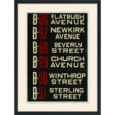 Wendover Art Brooklyn Bus Roll Sign II