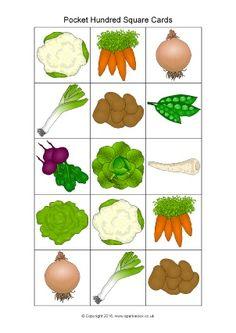 Fruit-Themed Pocket Hundred Square Cover-Up Cards (SB11614 ...
