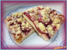 Švestkový koláč s drobenkou - bez kynutí