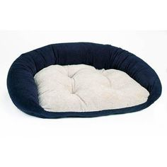 Bowser's Reversible Lounger Dog Bed in Navy (Navy/Oatmeal, X-Large (48in x 28in)) *** Remarkable product available now. : dog beds