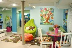 Basement Playroom/Homeschool Space