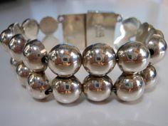 sterling silver vintage taxco bracelet