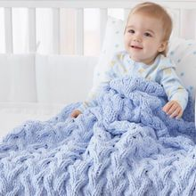 Baby Blanket - Shadow Cable Baby Blanket (knit) Warm and cozy baby blanket with thick cables. Shown in Bernat Baby Blanket. Warm and cozy baby blanket with thick cables. Shown in Bernat Baby Blanket. Bernat Baby Blanket, Blanket Yarn, Baby Blanket Crochet, Crochet Yarn, Free Crochet, Crochet Owls, Chunky Blanket, Blue Blanket, Crochet Animals