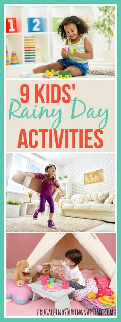 Rainy days come and go, but the kids still want to play outside. Here are some rainy day activities to keep your kids entertained and your budget happy.