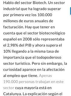 Biotech alcanza al Turismo en España pero solo crea 200.000 empleos