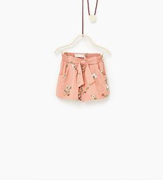 Image 1 of Floral Bermuda shorts from Zara