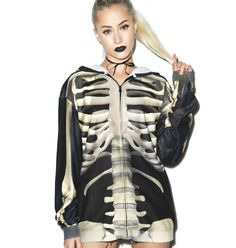 FAUX REAL X-Ray Vision Skeleton Hoodie
