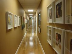 The pediatric office- I like the framed pics on the wall. Gives the office a warm home atmosphere.