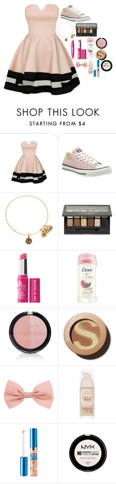 """Untitled #318"" by ginadogs ❤ liked on Polyvore featuring COVERGIRL, Converse, Alex and Ani, Maybelline, Bare Escentuals, Dove, Forever 21 and Sonia Kashuk"