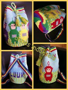 Wayuu Mochila bag Teletubbies