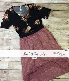 One of my favorite outfits! LuLaRoe Lola and LuLaRoe Perfect Tee