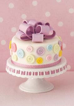 Adorable Button Cake
