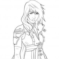 final fantasy coloring pages google search - Coloring Pages People Realistic