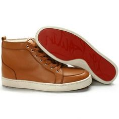 Christian Louboutin Louis Sneakers Men's Brown Red Bottom Shoes