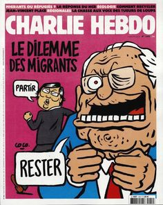 Charlie Hebdo - N° 1206 - Mercredi 2 Septembre 2015 - Couverture de Coco