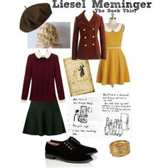 Liesel Meminger - The Book Thief by emmalovesdisney456 on Polyvore featuring polyvore, fashion, style, J.Crew, Robert Clergerie, SonyaRenée and Betmar