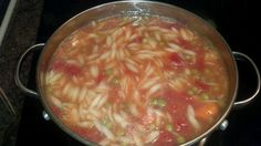 Robust chicken vegetable soup with orzo