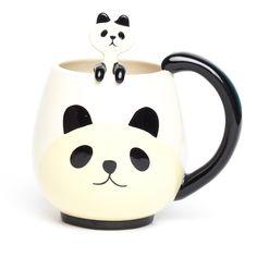 Panda Round Mug & Spoon Set