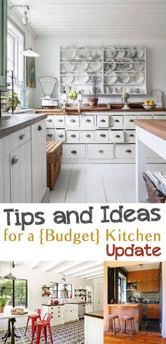 tips and ideas for a budget kitchen update