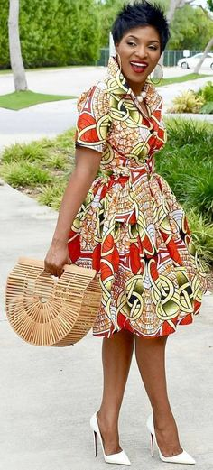 African clothing for women/ African prints dress for proms/ Ankara dress for weddings/ African shirtdress/Ankara - African fashion Short African Dresses, African Fashion Dresses, Ghanaian Fashion, Ankara Fashion, African Dress Styles, Short Dresses, African Style Clothing, Nigerian Fashion, Long Skirts