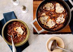 http://cooking.nytimes.com/recipes/1017975-mushroom-soup-gratinee