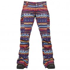 Burton Gloria Shell Snowboard Pant (Women's) - Antigua Stripe