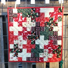 """""""Plus quilt"""" for family Xmas gift exchange."""