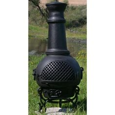 Blue Rooster - ALCH016-CH - Gatsby Cast Aluminum Chiminea - Charcoal - Medium by Blue Rooster. $349.95. Image May Vary - Please See Product Title for Actual Size and Color!. Detailed Design. Decorative Removable Rain Lid. Non-Rusting Solid Cast Aluminum Alloy Body. Safe Single Opening Traditional Chiminea. Big enough for full-size logs. This large outdoor chiminea makes a great centerpiece for entertaining friends and family.The Blue Rooster Company is a designer and manufactur...