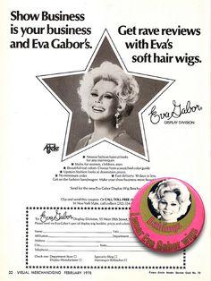 1978 — Eva Gabor Wigs