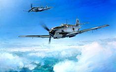 Download wallpapers Messerschmitt Bf109, German fighter, World War II, military aircraft, WW2, Luftwaffe, Bf109E-3