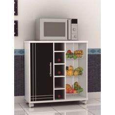 Fruteira Marilu - Jalmac Móveis - 1 Portas -Tampo e Base em MDF de 25mm - 3 cestos para armazenar frutas - Rodízios  R$329,90  ou 10x de R$32,99 ou R$296,91 no Boleto ou Bankline (10% desconto)