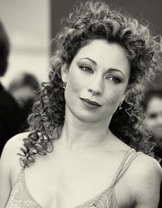 Alex Kingston aka River Song/Melody Pond of Doctor Who. Fantastic actress, really portrays her character quite well.