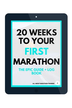 This 20 Week Marathon Training Schedule is geared towards runners who want to run their FIRST ever marathon! It's your one stop guide with everything you need to get to your first finish line! First Marathon Training, Marathon Training Plan Beginner, Marathon Plan, Strength Training For Beginners, Marathon Runners, Running Guide, Running Workouts, Weight Training For Runners, Weightlifting For Beginners