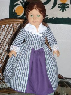 1770s Colonial En Forreau Gown for by alohagirldollclothes on Etsy, $48.50