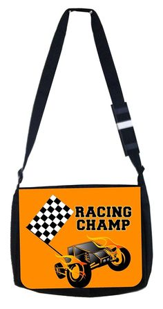 Racing champ orange Rosie Parker Inc. TM Medium Sized Messenger Bag 11.75' x 15.5' ** Want additional info? Click on the image. (This is an Amazon Affiliate link and I receive a commission for the sales)