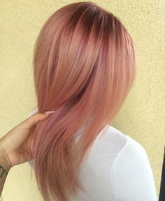 """""""Leaving the salon like  comment your thoughts on this ROSEGOLD  GEM  Please note that if you plan on going light or pastel tones that the color…"""""""