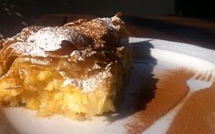 Custard Pie recipe with Phyllo and ground Cinnamon! The ideal indulgent weekend breakfast recipe!
