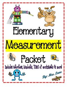 *BEST SELLER!*This packet contains TONS of fabulous items to teach measurement to elementary students, from activities and games, lesson plans ...