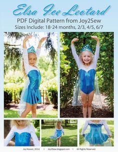 Joy 2 Sew: Elsa Ice Leotard Pattern is HERE!!!!!